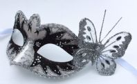 Black and White Swan Lake Butterfly Mask